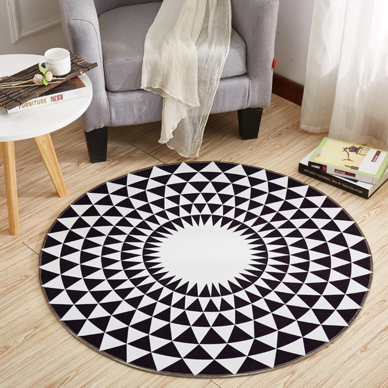 Computer Chair mat for Carpet,Round Floor mat Round Carpet Swivel Chair mat Hanging Basket mat-B diameter140cm(55inch)