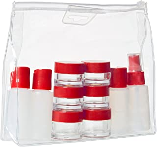 Wenger 604548 Travel Bottle 10 Piece Set, White, Red, 20 Centimeters