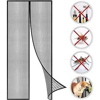 Nicht K/ürzbar 100X220 Kinderleichte Klebemontage Ohne Bohren Voarge Magnet Fliegengitter T/ür Insektenschutz 95x210cm Der Magnetvorhang ist Ideal f/ür die Balkont/ür Kellert/ür und Terrassent/ür