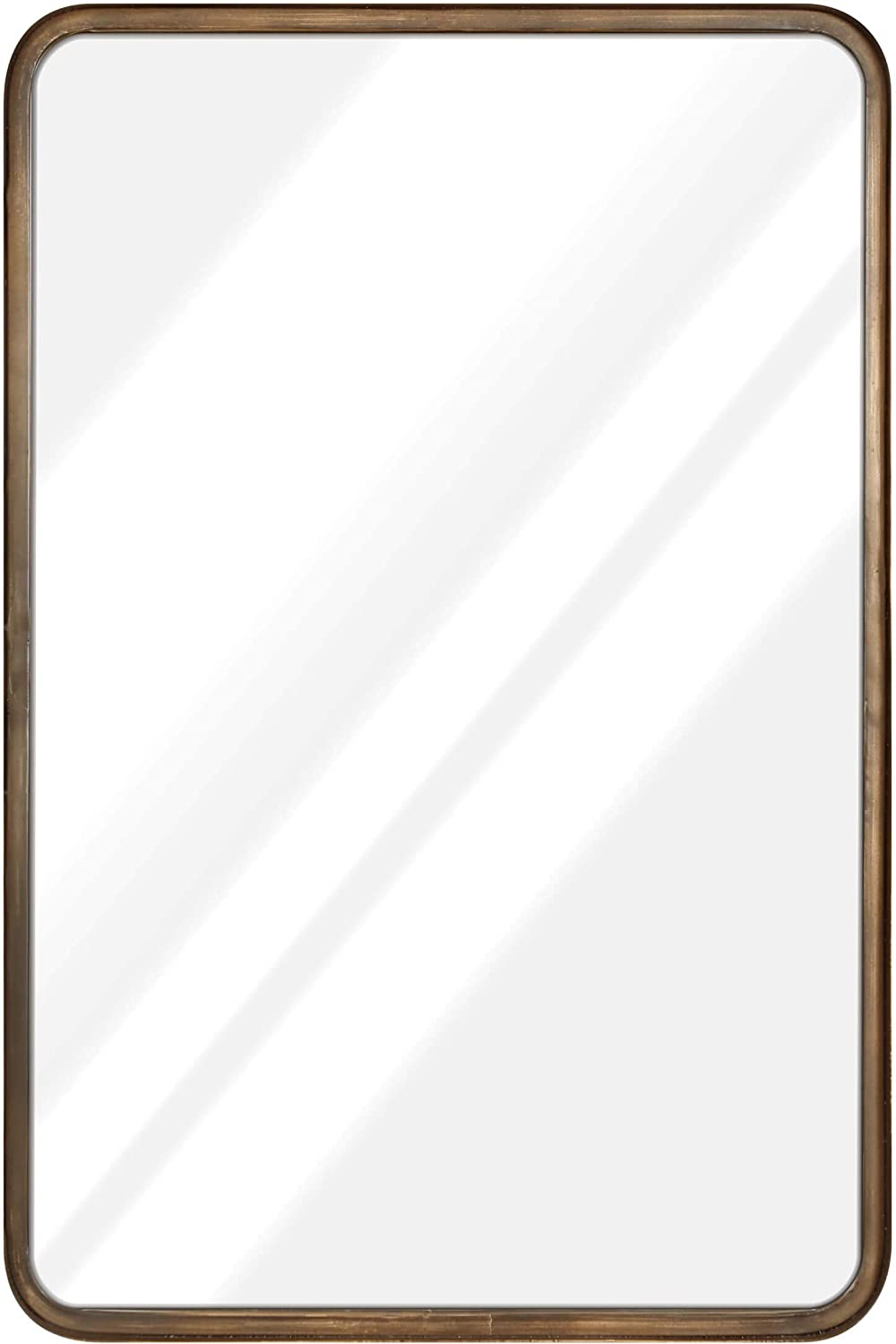 20 x 30  Large Rectangle Mirror - Beautiful Brushed gold Wall Mirror - Handcrafted Accent Mirror - Metal Framed Decorative Mirrors For Wall - Hanging Mirror - Large Wall Mirror For Bathroom & Entryway