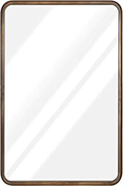 20 x 30 Large Rectangle Mirror - Beautiful Brushed Bronze Wall Mirror - Accent Mirror - Metal Framed Decorative Mirrors for W