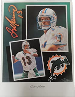 Dan Marino 18x24 Unsigned Lithograph Poster Print Miami Dolphins New
