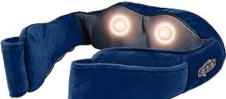 Sharper Image SMG1204 Shiatsu Back & Shoulder Massager with Heat and Timer (Navy)