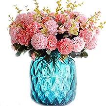 Floral Decorations - Fake Chrysanthemum Bouquet Flower Artificial Plant Wedding Bridal Home Floral Decor Arrangement Diy - Vases Shower Baby Bedroom Living Kitchen Centerpiece Girl Room Flora