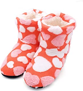 Surprise S Short Tube Warm Love Cotton Slippers Women Winter Home Cotton Padded Shoes Winter Soft Bottom Indoor