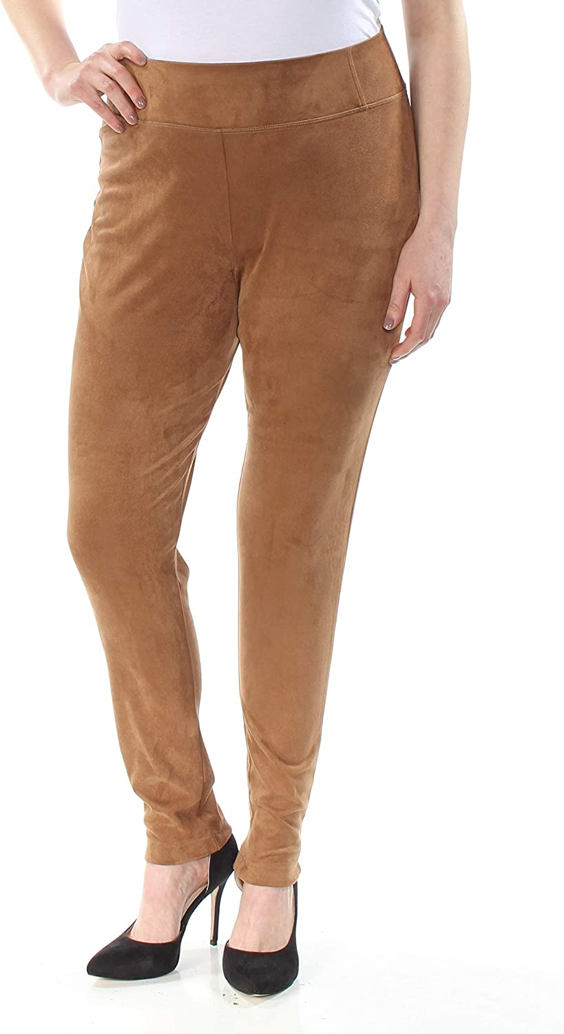INC Womens Faux Suede Casual Leggings