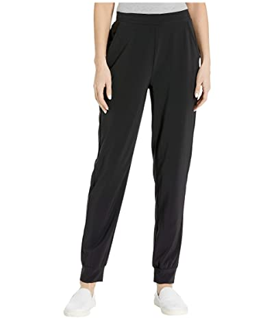 HUE Travel High-Waist Slim Joggers (Black) Women