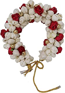 FULLY Fashionable Hair Gajra For South Indian Wedding & Kuchipudi Dancing Flower (Veni) For Women Hair Accessories (Golden...