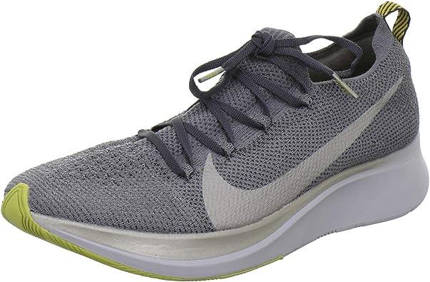Nike Zoom Fly Flyknit Men's Running Shoe Dark Grey/MTLC Pewter-Black Size
