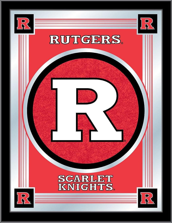 Holland Bar Stool NCAA Rutgers Scarlet Knights Logo Mirror, 17 X 22-Inch