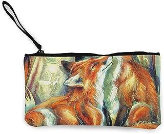 Canvas Coin Purse Fox Love Cosmetic Makeup Storage Wallet Clutch Purse Pencil Bag