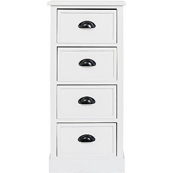 Steens Furniture Kommode, Pino, Blanco, 91 x 44 x 39 cm: Amazon.es: Hogar