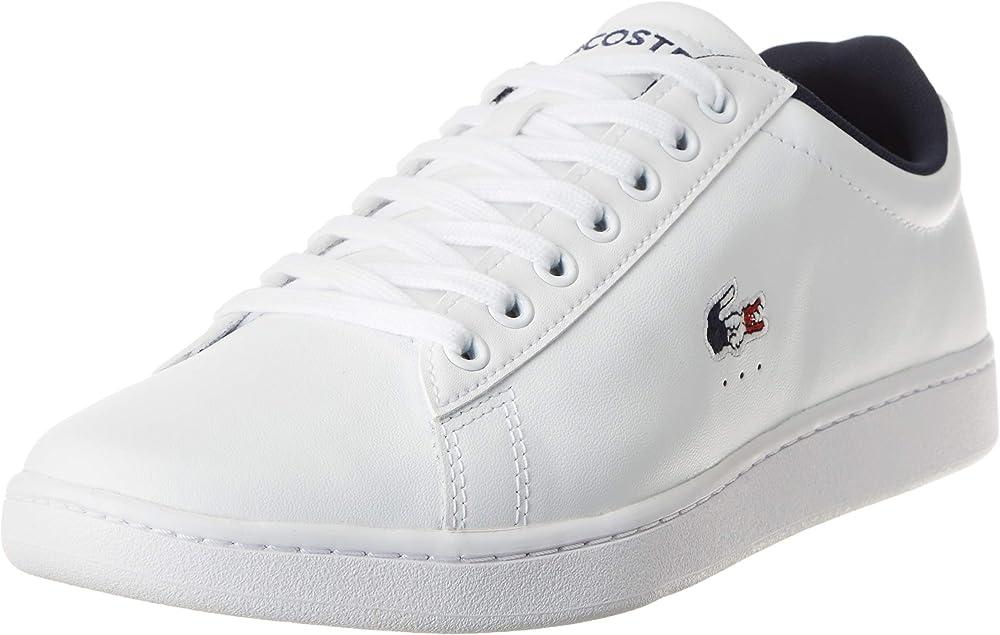 Lacoste carnaby evo tri1 sma, sneakers,scarpe sportive per uomo,in pelle 39SMA0033