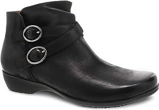 Dansko Women's Faithe Black Inside Zip Ankle Bootie 9.5-10 M US