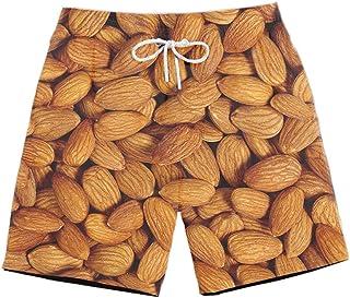 XIELH Shorts Summer 3D Printed Beach Pants Home Plus Size Loose Pants 3D Nut Print Beach Shorts