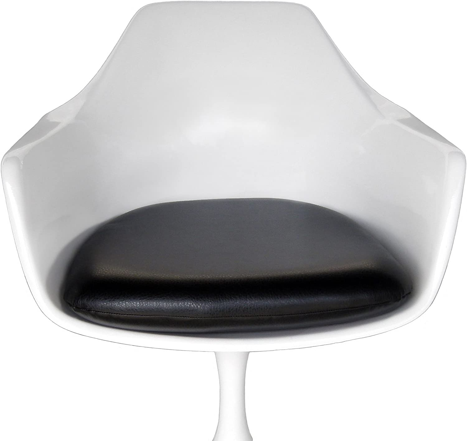 Premium Black Vinyl Tampa Mall Replacement Cushion for price Chair - Tulip Arm Sa