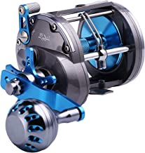 Sougayilang Line Counter Trolling Reel Conventional Level Wind Fishing Reel