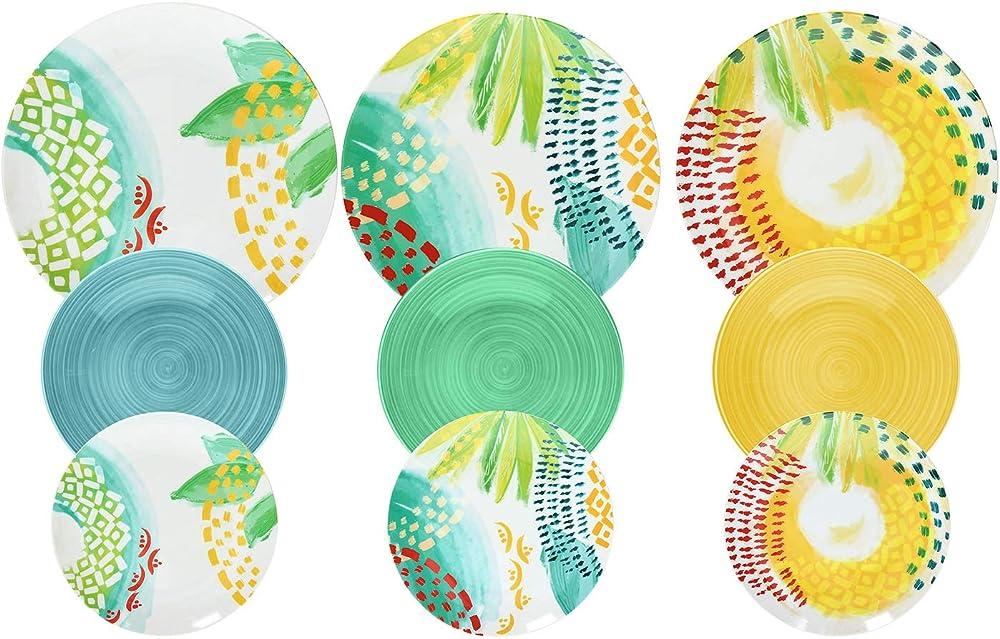 Tognana sunny, servizio da tavola 18 pezzi, in porcellana ME070185596