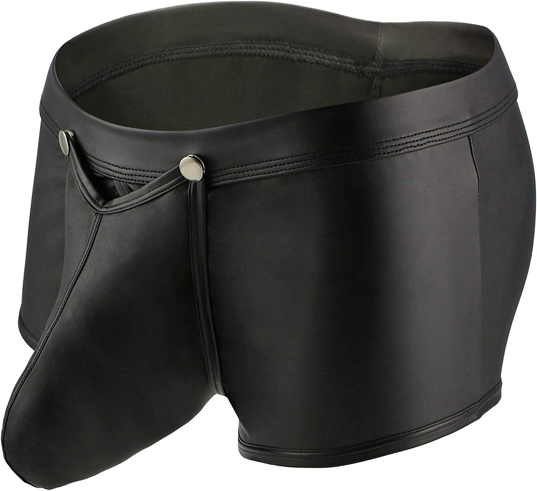 TESOON Mens Boxer Briefs Underwear Sexy Bulge Pouch Short Leg Underpants