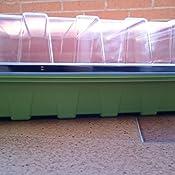 A con 10pcs Etiquetas JTWEB 3Pcs Bandejas De Germinaci/óN para Invernaderos Caja De Pl/áNtulas De 24 Agujeros con Cubierta Transpirable Caja De Semillero Bandeja De Pl/áNtulas