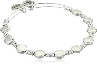 Alex and Ani Women's Silver Coin Charm Bangle, Shiny Silver