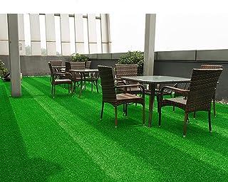 WENZHE-Artificiales sintético plástico Grass Hierba Artificiales Alfombra Césped Techo Alta Densidad, Grueso 10/15mm,8 Estilos Césped (Color : Green#2, Tamaño : 2 * 0.5m)