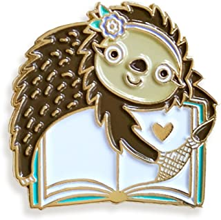 Night Owl Paper Goods Book Sloth Enamel Pin