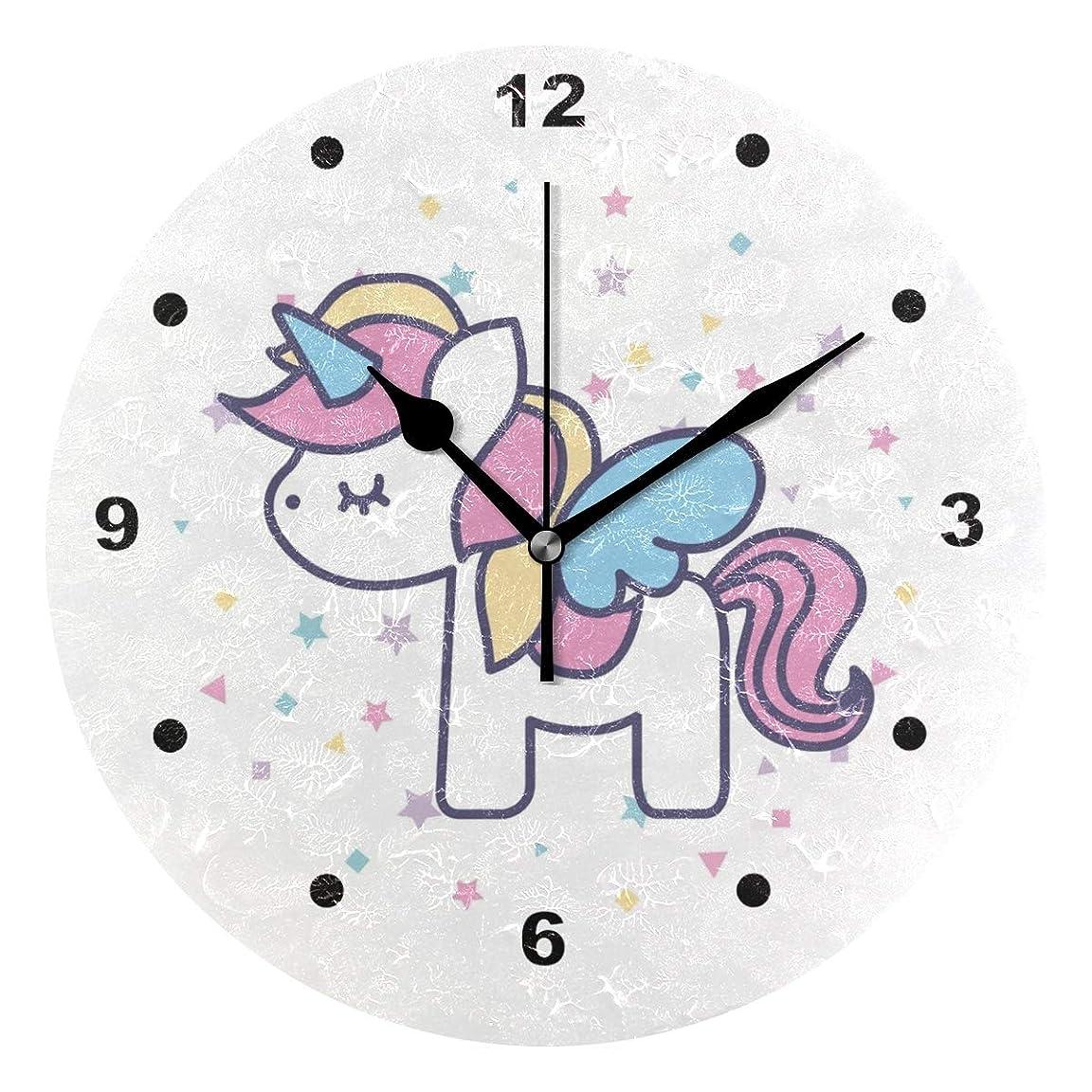 サンダル申込みマトロン壁掛け時計 おしゃれ 連続秒針 置き時計 見やすい 静音 サイレント 電池式 シンプル モダン プリンセス ユニコーン 城 ピンク モダン インテリア かけとけい ウォールクロック 置掛両用 人気 掛け時計 可愛い かわいい (color6)