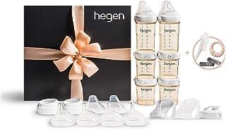 Hegen PCTO™ Complete Starter Kit PPSU + Free 2X Storage Lids (Grey) & Bottle Brush & Soothing Teether Bundle