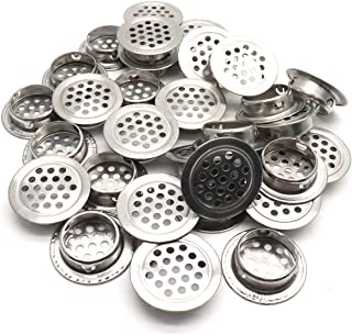 Coolfuy 25mm Vent Mesh Hole Stainless Steel Round Air Vents for Cabinet Bathroom Office Kitchen Cupboards 40Pcs