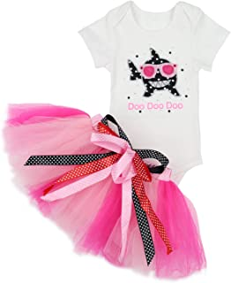 99f75ececad Baby Girls Shark Doo Doo Doo Romper + Tutu Dress 1st Birthday Outfit Set