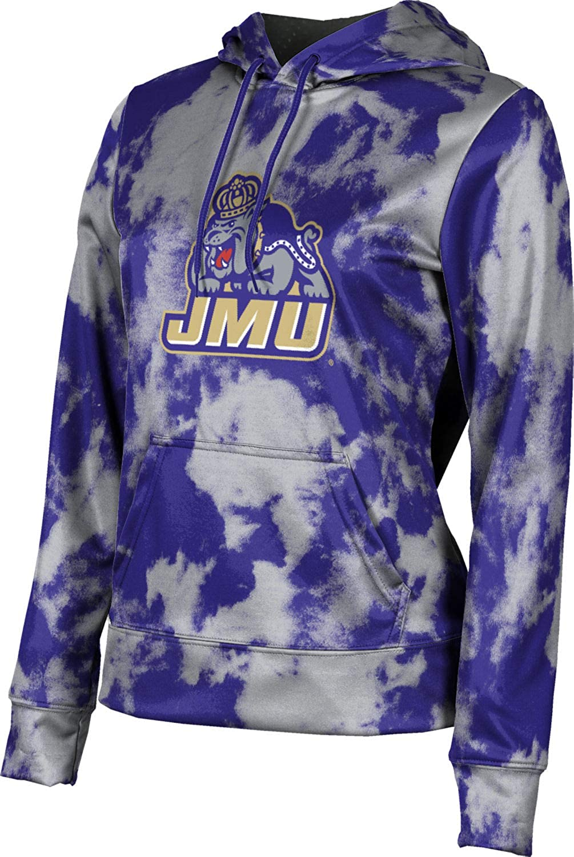 James Madison University Foundation Girls' Pullover Hoodie, School Spirit Sweatshirt (Grunge)