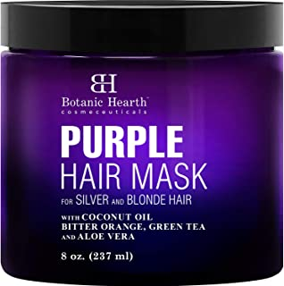 Botanic Hearth Purple Hair Mask - for Blonde, Silver and Gray Hair, Sulfate & Paraben Free - 8 fl oz