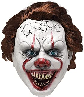 Newest Halloween Creepy Scary/Fancy Dress Costume Mask for Adults,Eco-Friendly 100% Natural Latex Clown Mask
