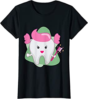 Tooth Fairy Smiling Cute T Shirt I Women and Girls Gift T-Shirt