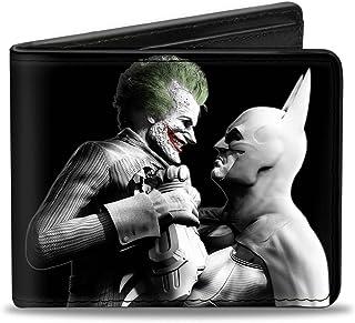 Buckle-Down Wallet Arkham City Batman & Joker Fight Pose Black/grays/whi Accessory