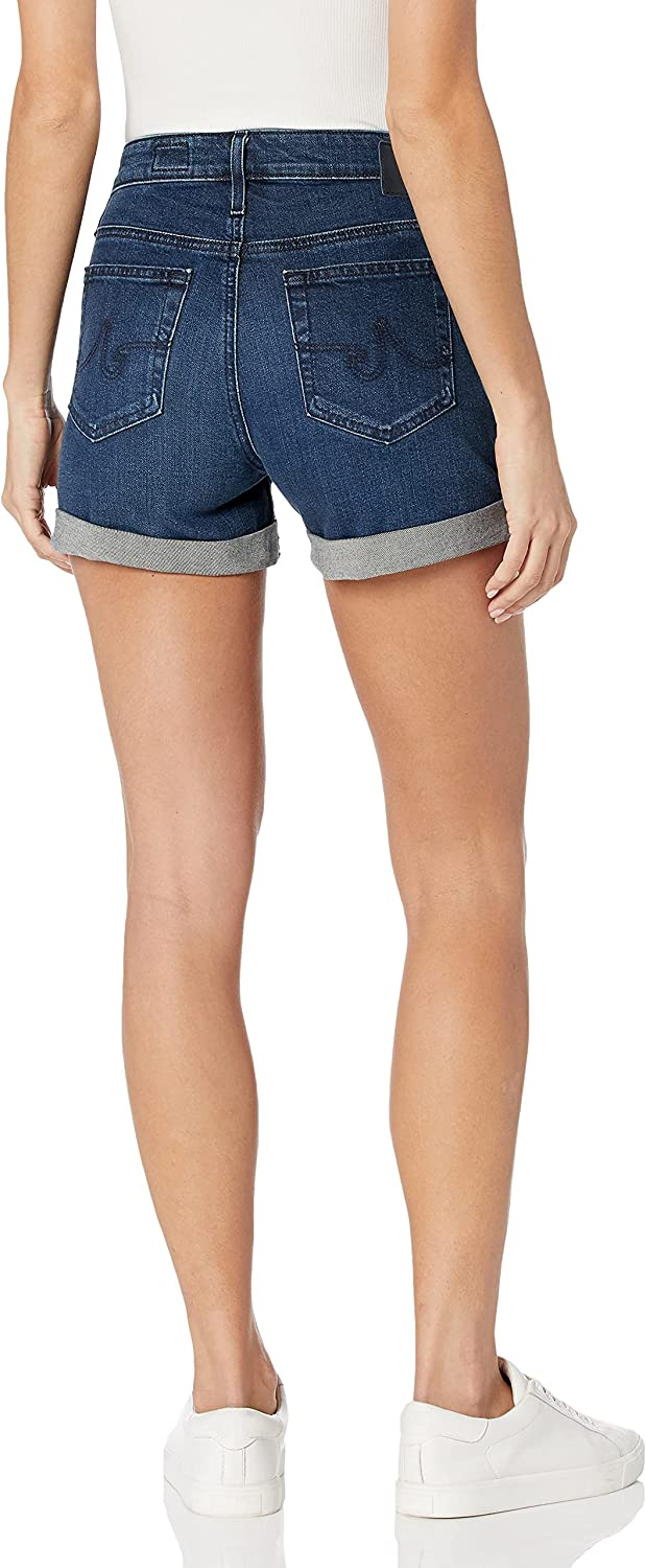 AG Adriano Goldschmied Women's The Hailey Roll Up Denim Short