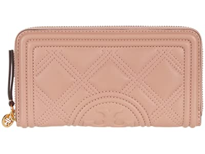 Tory Burch Fleming Soft Zip Continental Wallet (Pink Moon) Bags