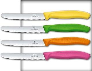 VICTORINOX 4 Messer Brötchenmesser Küchenmesser Tomatenmesser Bunt
