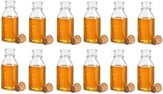 Nakpunar 12 pcs 8 oz Empty Glass Honey Bottles with Cork Stopper - Muth Style
