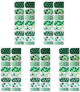 BESTOYARD 5 Sheets St. Patrick's Day Nail Art Sticker Decals Set