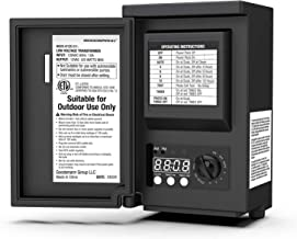 GOODSMANN 120 Watt Power Pack with Sensor and Weather Shield for Low Voltage Landscape Lighting and Spotlight Outdoor Transformer 120V Input 12V Output 9920-9120-01
