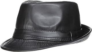 C-Princess 秋冬 PUレザーハット 中折れ帽子 紳士帽 メンズ レディース つば広 おしゃれ かっこいい ヴィンテージ風 カジュアル アウトドア