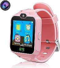 DUIWOIM Kids Smart Watch Phone Watch for Kids Smartwatch Camera Games Touch Screen Cool Toys Smart Watch Gifts for Girls Boys Children (Pink)