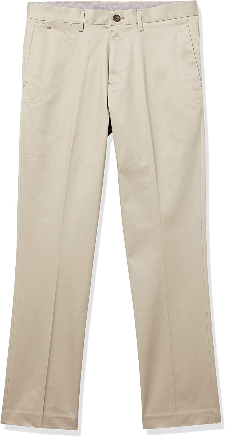Marque Amazon - Buttoned Down Athletic Fit Non-Iron Dress Chino Pant Homme Kaki