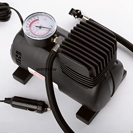 Wennow Portable Mini Air Compressor Auto Car Electric Tire Air Inflator Pump 12V 280PSI