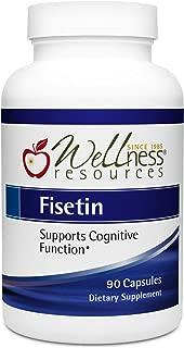 Fisetin - Best Value (100mg, 90 Capsules) - Novusetin Supplement for Memory, Focus, Brain Health - Gluten-Free, Non-GMO, Vegan