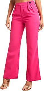 Tailored Wide Leg Trouser with Button Closure For Women Closet by Styli