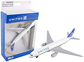 United Airlines 777 airplane toy plane, RT6266