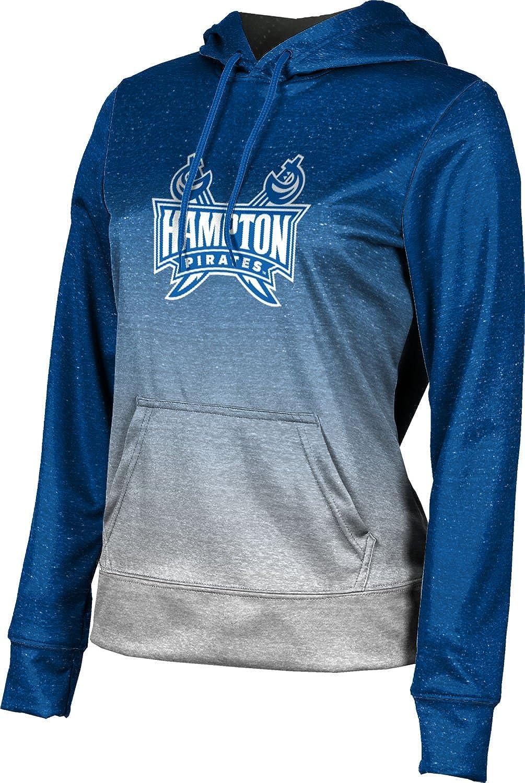 Hampton University Girls' Pullover Hoodie, School Spirit Sweatshirt (Ombre)
